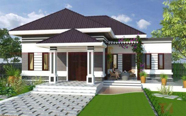 Thiết kế nhà cấp 4 3 phòng ngủ 1 phòng khách