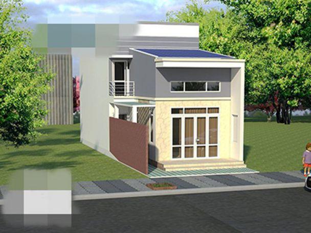 Thiết kế nhà cấp 4 gác lửng 5x14