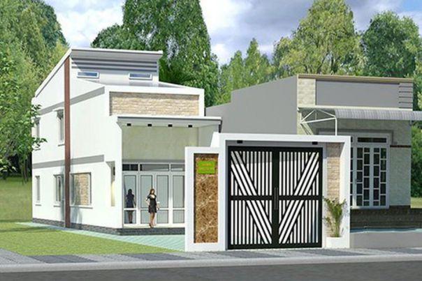Thiết kế nhà cấp 4 gác lửng 600 triệu đồng