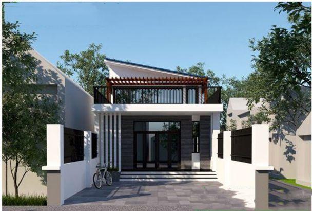 Thiết kế nhà cấp 4 gác lửng có sân thượng