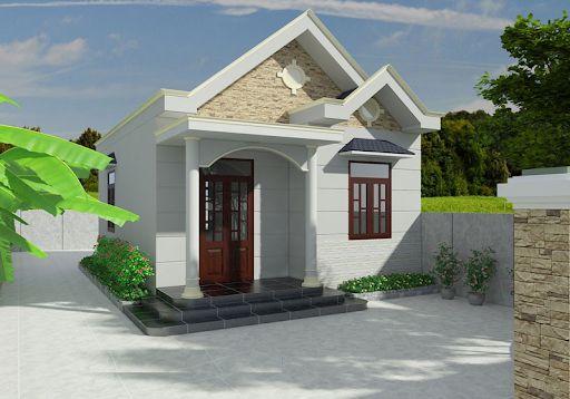Thiết kế nhà cấp 4 mái thái 5x16