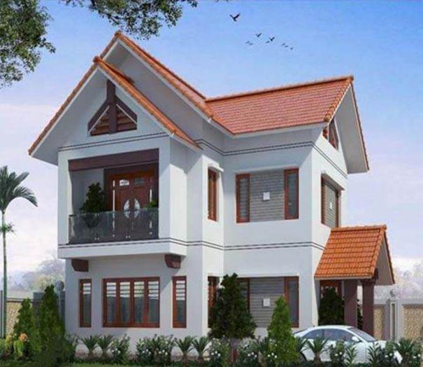 Những mẫu nhà phố 2 tầng mái ngói đẹp nhất - Hình 3