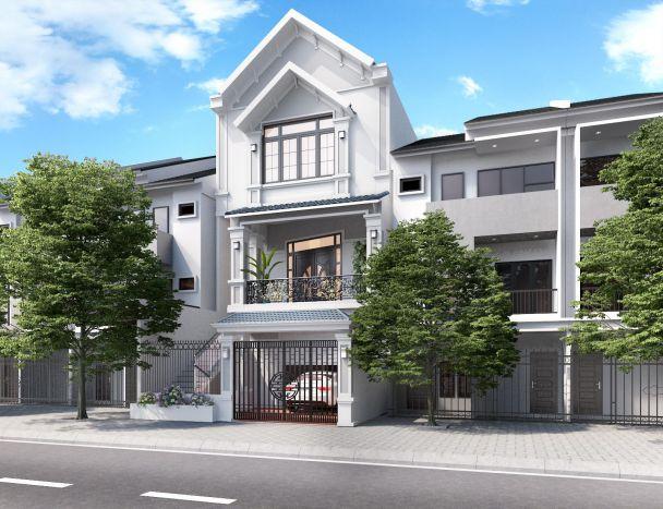 Top các mẫu nhà phố 3 tầng mái ngói đẹp trong năm - Hình 2