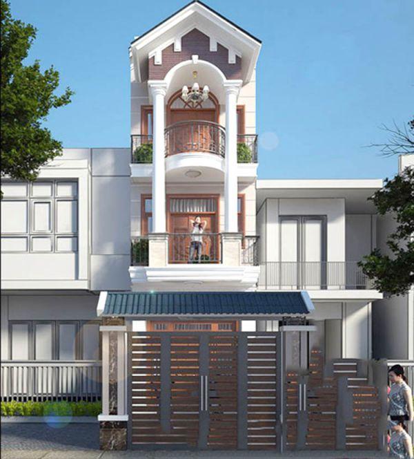 Top các mẫu nhà phố 3 tầng mái ngói đẹp trong năm - Hình 3