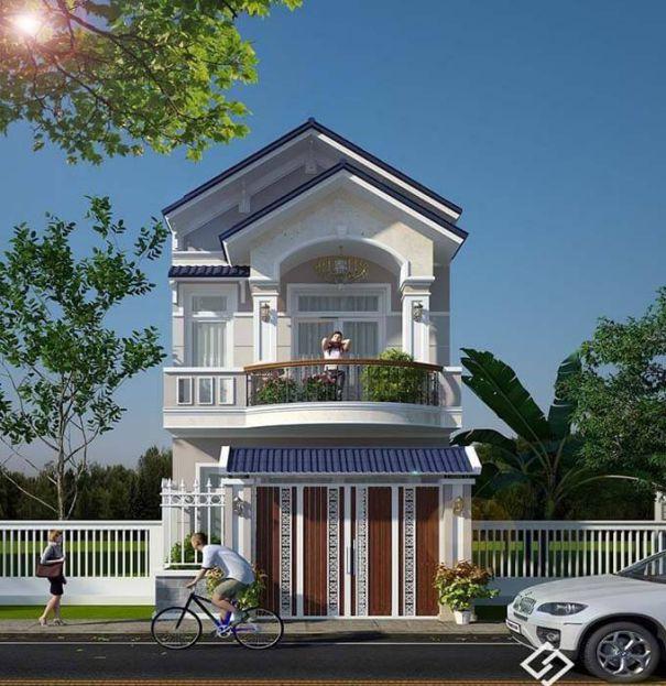 Giới thiệu thiết kế nhà phố mái ngói 2 tầng phong cách hiện đại