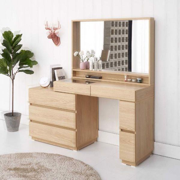 Mẫu bàn trang điểm gỗ thông ghép đẹp nhất hiện nay