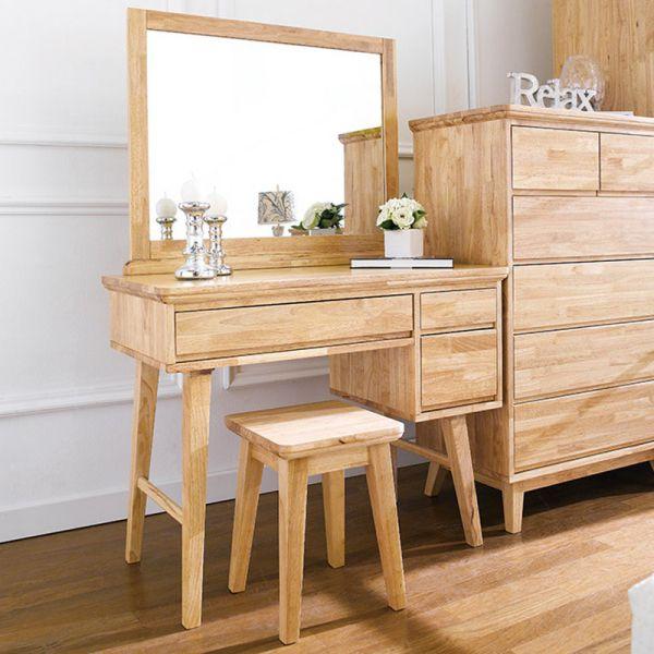 Mẫu bàn trang điểm gỗ tự nhiên đẹp nhất hiện nay