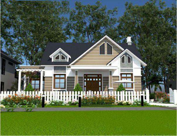 Giới thiệu thiết kế biệt thự mini sân vườn 1 tầng