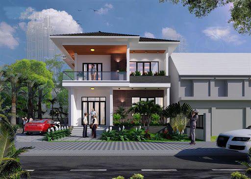 Giới thiệu thiết kế biệt thự mini sân vườn 2 tầng