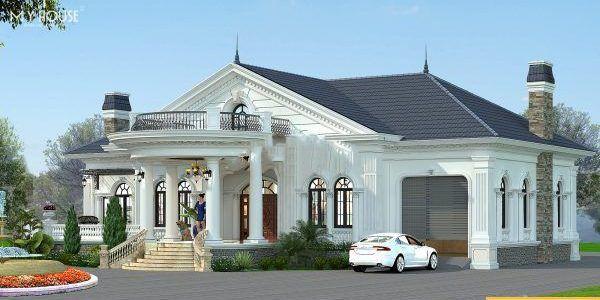 Mô hình thiết kế biệt thự mini tân cổ điển 1 tầng