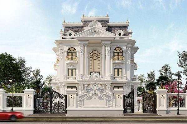 Mô hình thiết kế biệt thự mini tân cổ điển 3 tầng