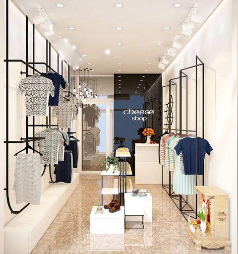 Hình ảnh giá treo quần áo cho shop thời trang