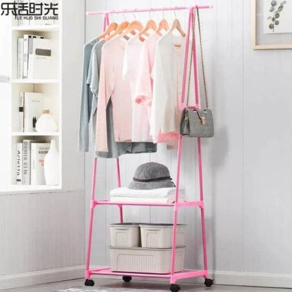 Hình ảnh giá treo quần áo có bánh xe