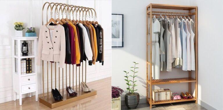Các loại giá treo quần áo đẹp hợp thời trang