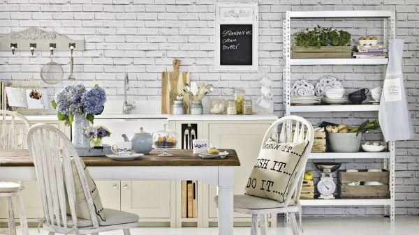 Mẫu giấy dán tường giả gạch đẹp cho nhà bếp và phòng ăn