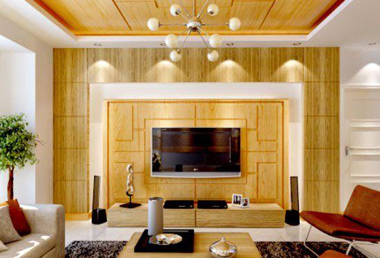 Mẫu giấy dán tường giả gỗ đẹp dành cho phòng khách