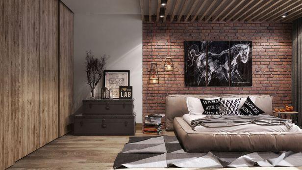 Mẫu giấy dán tường giả gỗ đẹp dành cho phòng ngủ