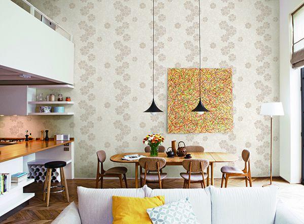 Chiểm ngưỡng loại giấy dán tường hàn quốc nhà bếp
