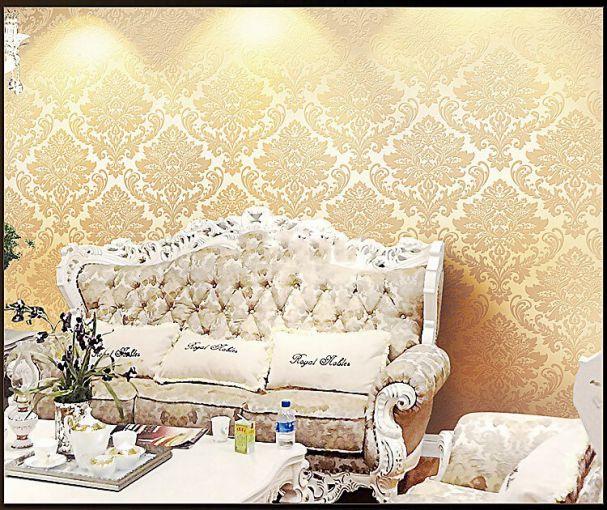 Mẫu giấy dán tường hoa văn đẹp cho phòng khách