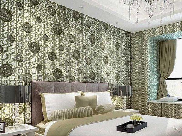 Mẫu giấy dán tường hoa văn đẹp cho phòng ngủ