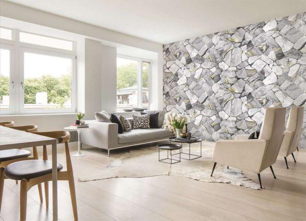 Những mẫu giấy dán tường màu trắng 3d đẹp