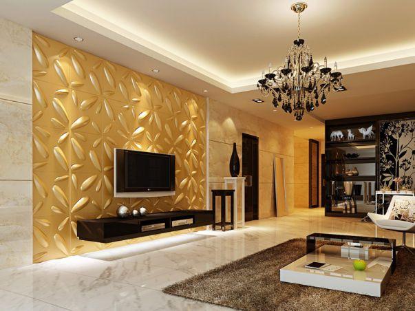 BST giấy dán tường màu vàng đẹp cho phòng khách
