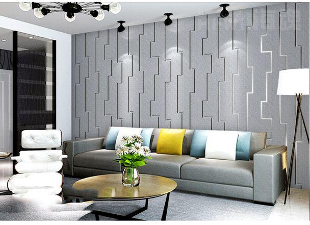 Các loại giấy dán tường màu xám cho phòng khách
