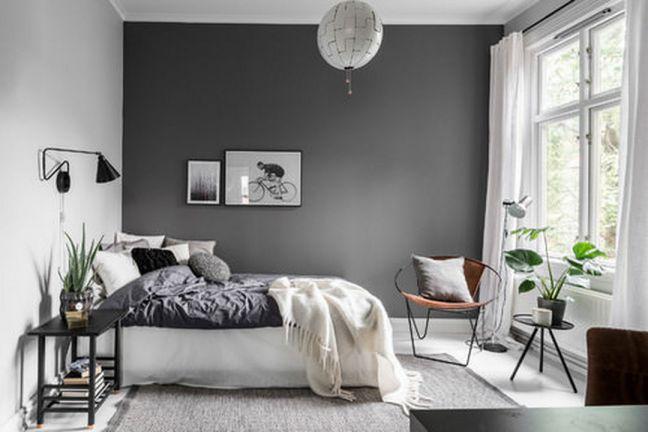 Loại giấy dán tường màu xám dành cho phòng ngủ