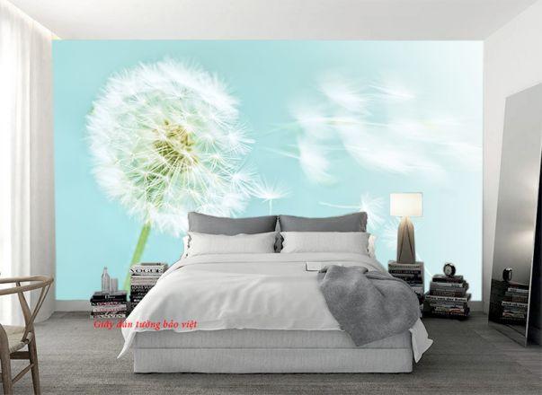 Các kiểu giấy dán tường màu xanh đẹp phòng ngủ