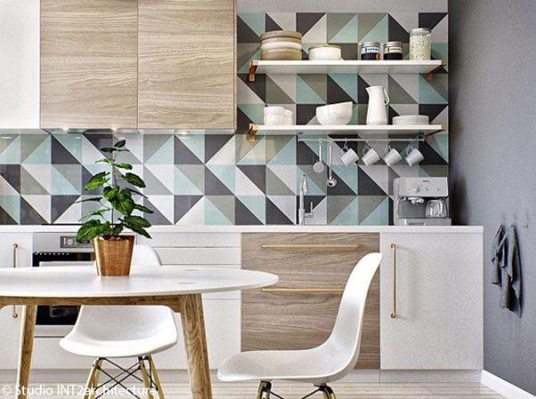 Các mẫu giấy dán tường nhà bếp đẹp nhất hiện nay