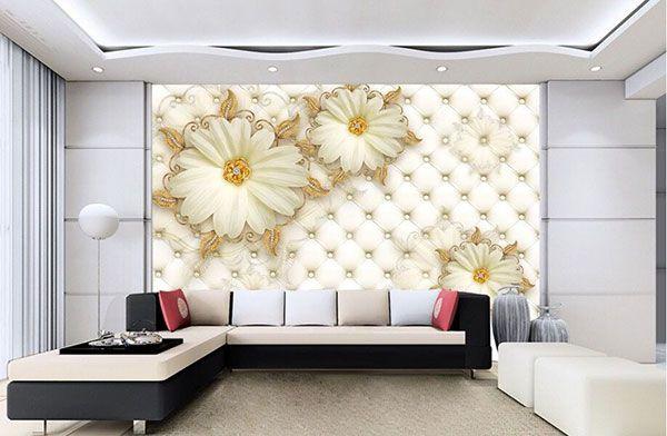 Giấy dán tường phòng khách đẹp nhất hiện nay - Hình số 1