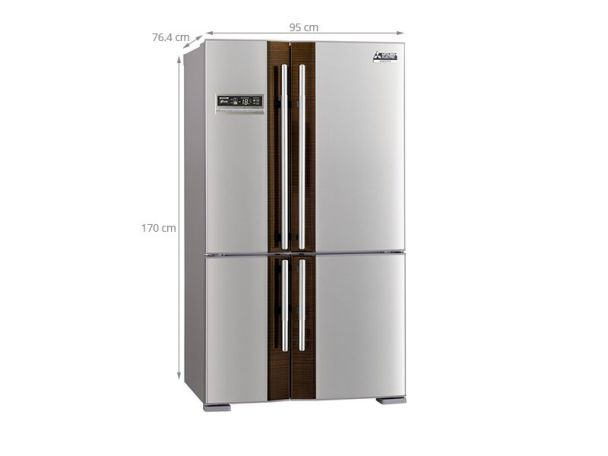 Tủ lạnh side by side Mitsubishi Electric 580 lít MR-L72EH- ST