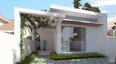 Ý tưởng thiết kế mẫu nhà ống 1 tầng hiện đại 2 phòng ngủ đẹp