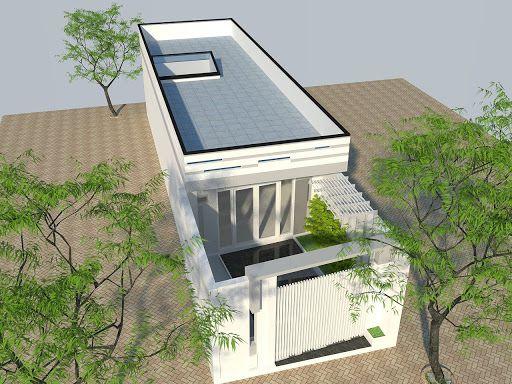 Thiết kế nhà ống 1 tầng 2 phòng ngủ hiện đại