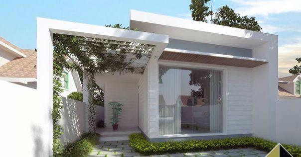 Phối cảnh 3D thiết kế nhà ống 1 tầng 2 phòng ngủ