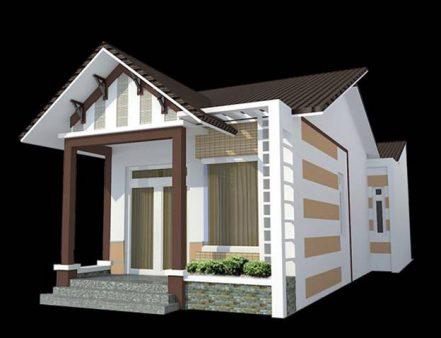 Mô hình nhà cấp 4 giá rẻ 2 phòng ngủ 1 phòng thờ 6x15m