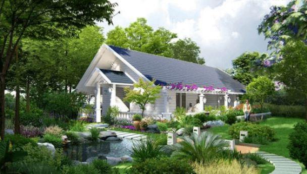 Thiết kế nhà vườn 1 tầng diện tích 50m2