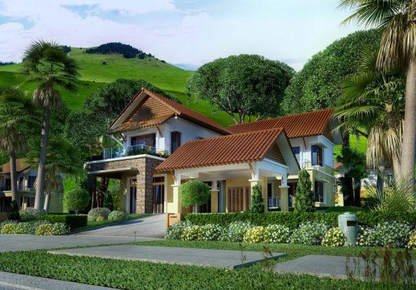 Phong cách kiến trúc nhà vườn 1 trệt 1 lầu diện tích 300m2