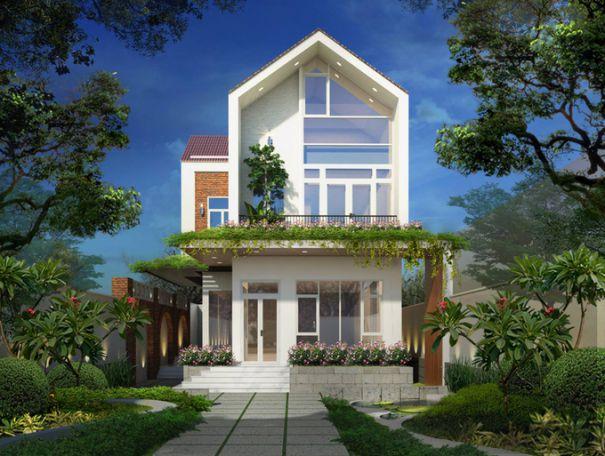 Thiết kế nhà vườn 2 tầng đẹp diện tích 50m2