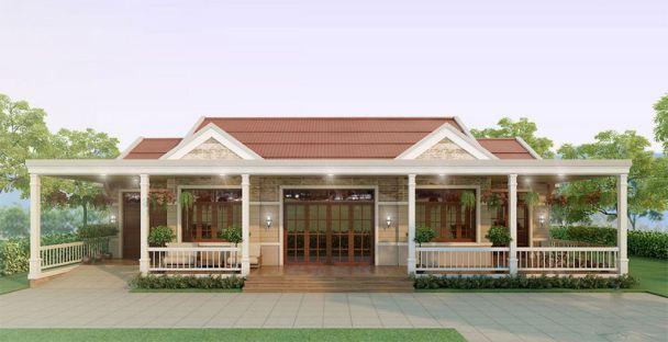Thiết kế nhà vườn cấp 4 đẹp diện tích 200m2