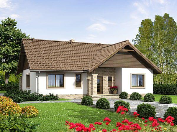 Kiến trúc nhà đẹp cấp 4 diện tích 70m2