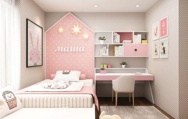 Thiết kế phòng ngủ cho bé gái trở nên ấn tượng - Mẫu 1