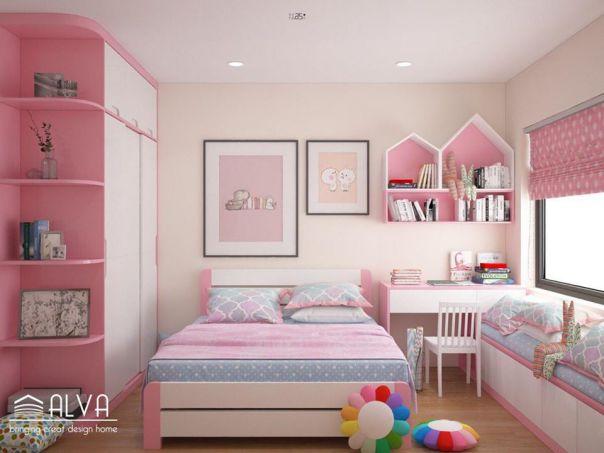 Thiết kế phòng ngủ cho bé gái trở nên ấn tượng - Mẫu 2