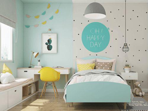 Thiết kế phòng ngủ cho bé gái trở nên ấn tượng - Mẫu 3