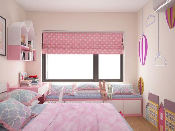 Thiết kế phòng ngủ cho bé gái trở nên ấn tượng - Mẫu 4