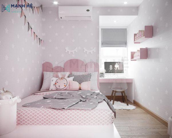 Thiết kế phòng ngủ cho bé gái trở nên ấn tượng - Mẫu 5