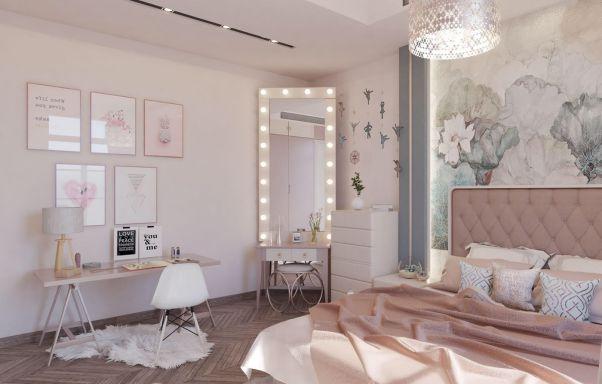 Thiết kế nội thất phòng ngủ cho nữ đẹp mê ly - Hình 1