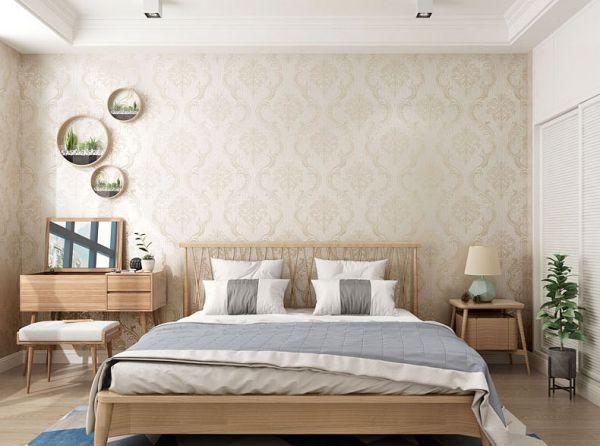 Cách trang trí phòng ngủ bằng giấy dán tưởng đẹp - Hình 1
