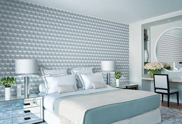 Cách trang trí phòng ngủ bằng giấy dán tưởng đẹp - Hình 4
