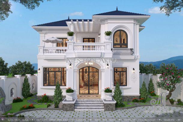 Thiết kế biệt thự nhà vườn 2 tầng kiểu pháp hiện đại